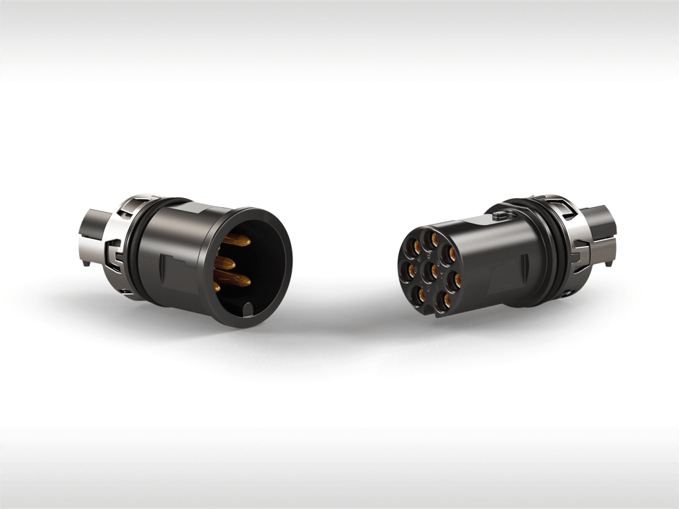 Flexible M8 and M12 connectors from ERNI for industrial ... on